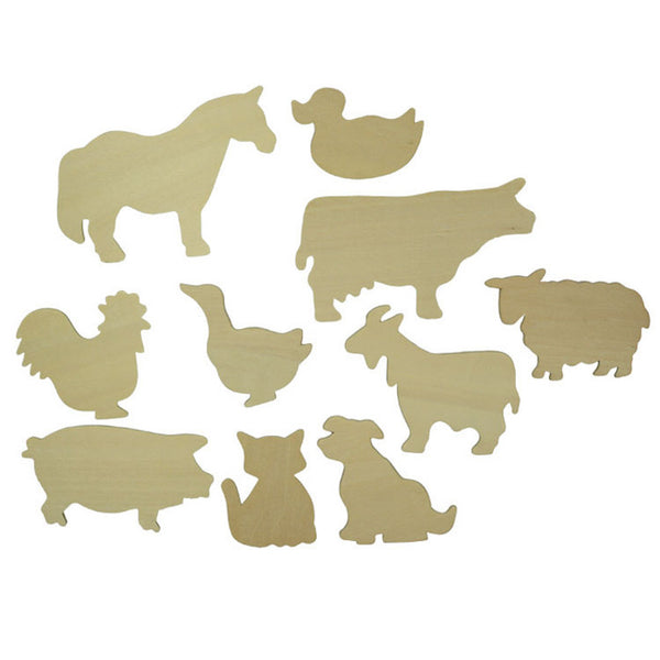 Wooden Animal Templates - Blue Bowl