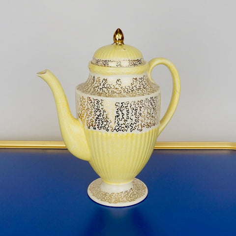 Yellow Wedgewood Coffee Pot