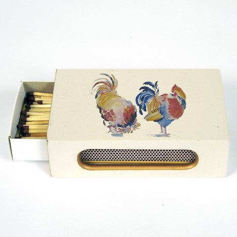 Match Box Cover - Blue Bowl