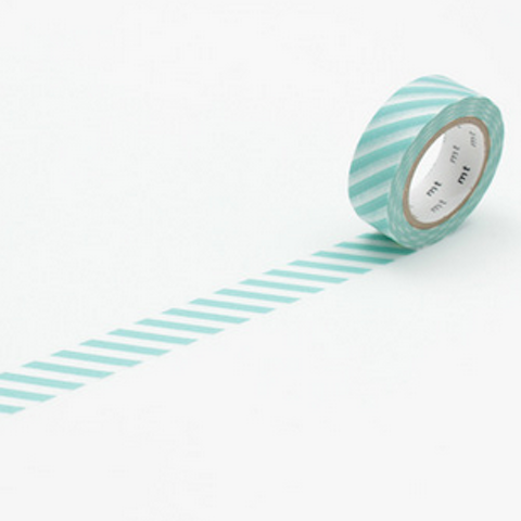 Stripe mt Washi Tape - Blue Bowl