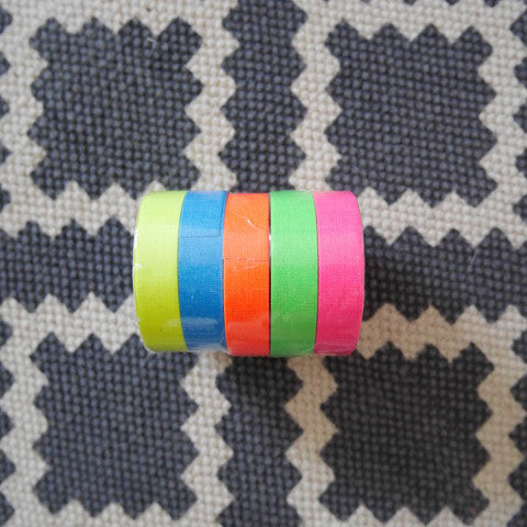Neon Gaffer Tape Stack - Blue Bowl