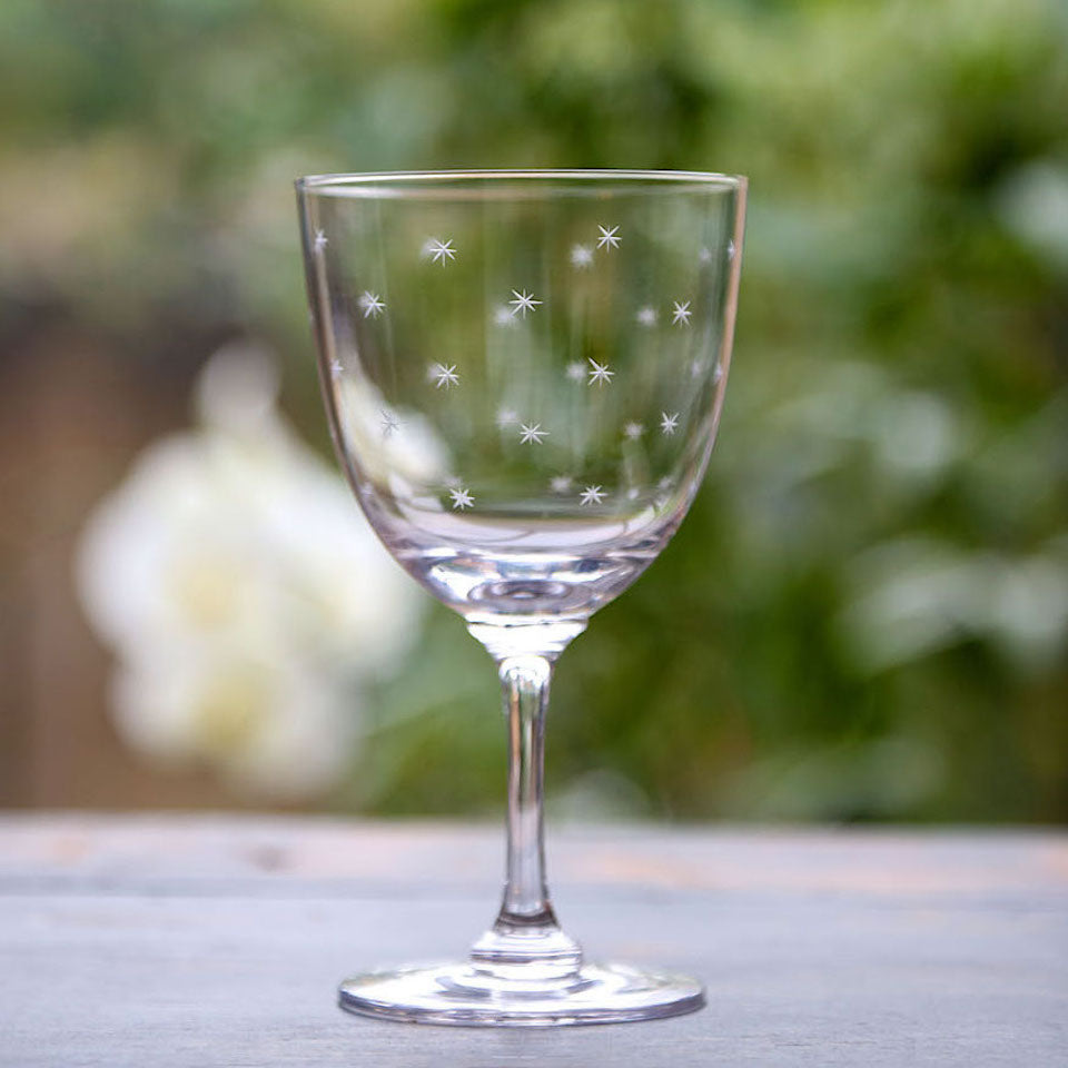 Wine Glasses - Blue Bowl
