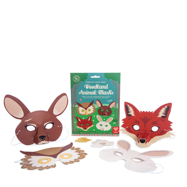 Woodland Animal Masks - Blue Bowl