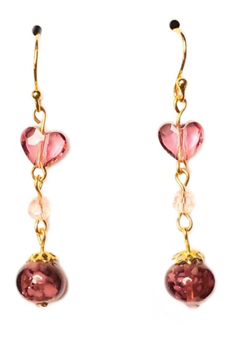 My Dainty Heart Drop Earrings - BeBlemishFree.Com