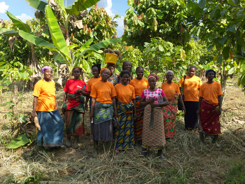 Rosine Bekoin and others from CAYAT cooperative to illustrate Fairtrade Fortnight 2019
