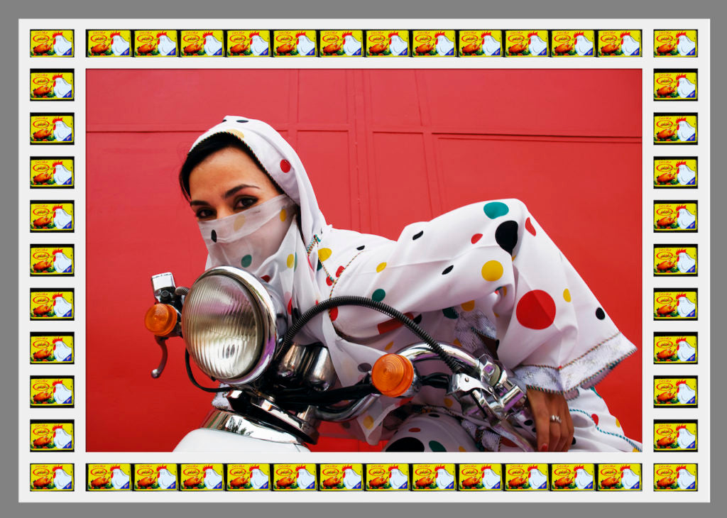 Rider, photograph by © Hassan Hajjaj, courtesy of the artist and Vigo Gallery