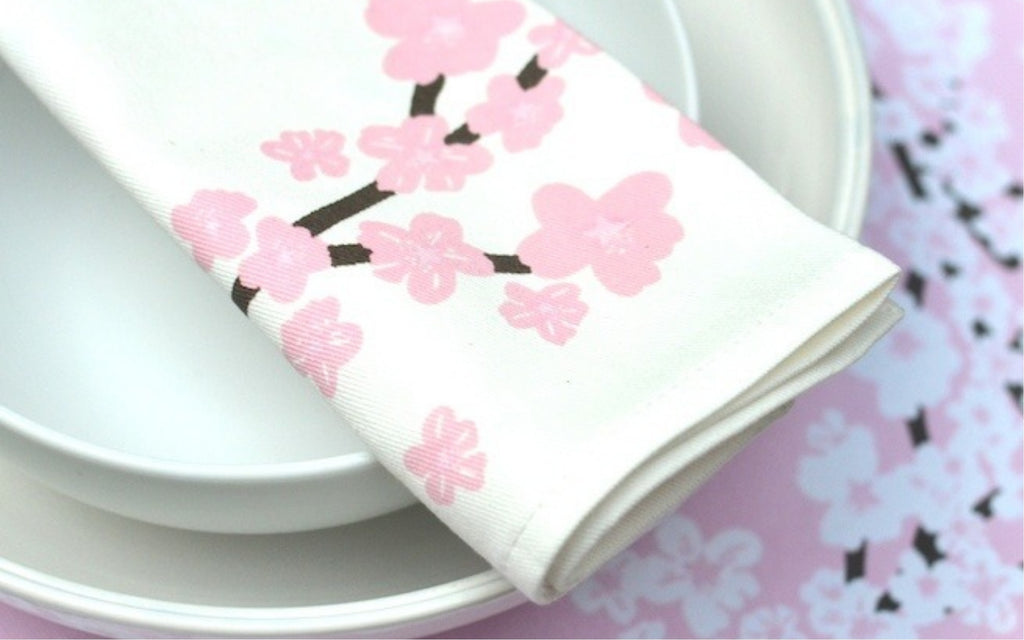 Cherry Blossom Napkins and Placemats