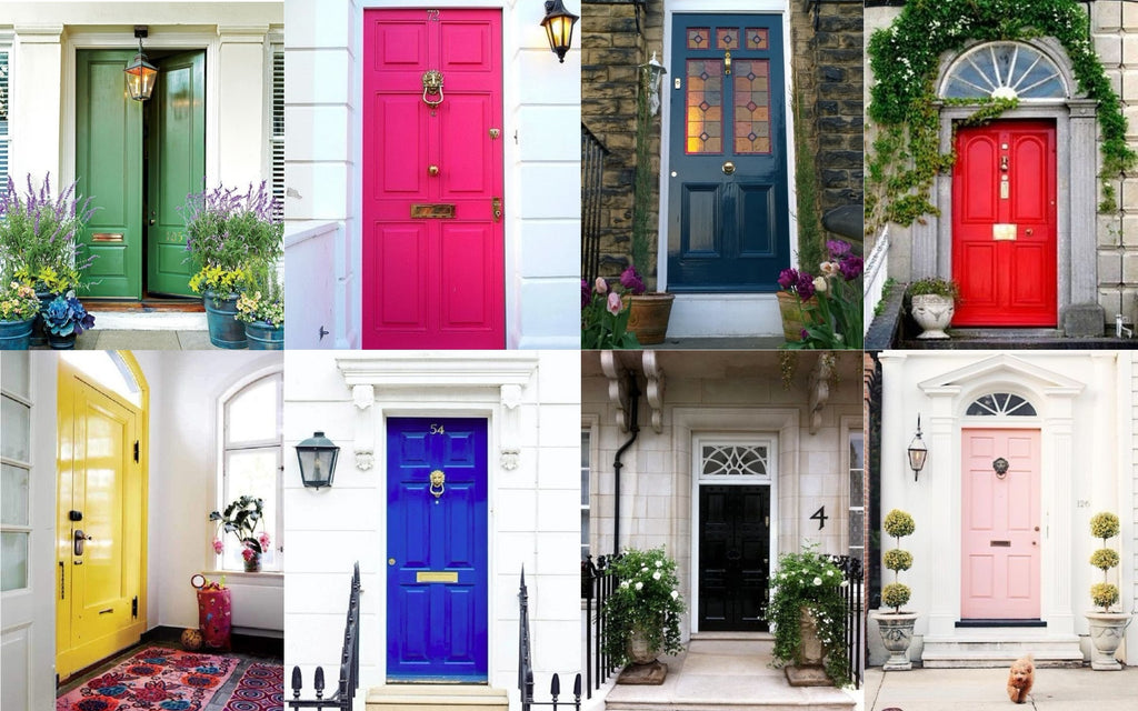 Colourful Front Doors - 2018 Home Decor Trend