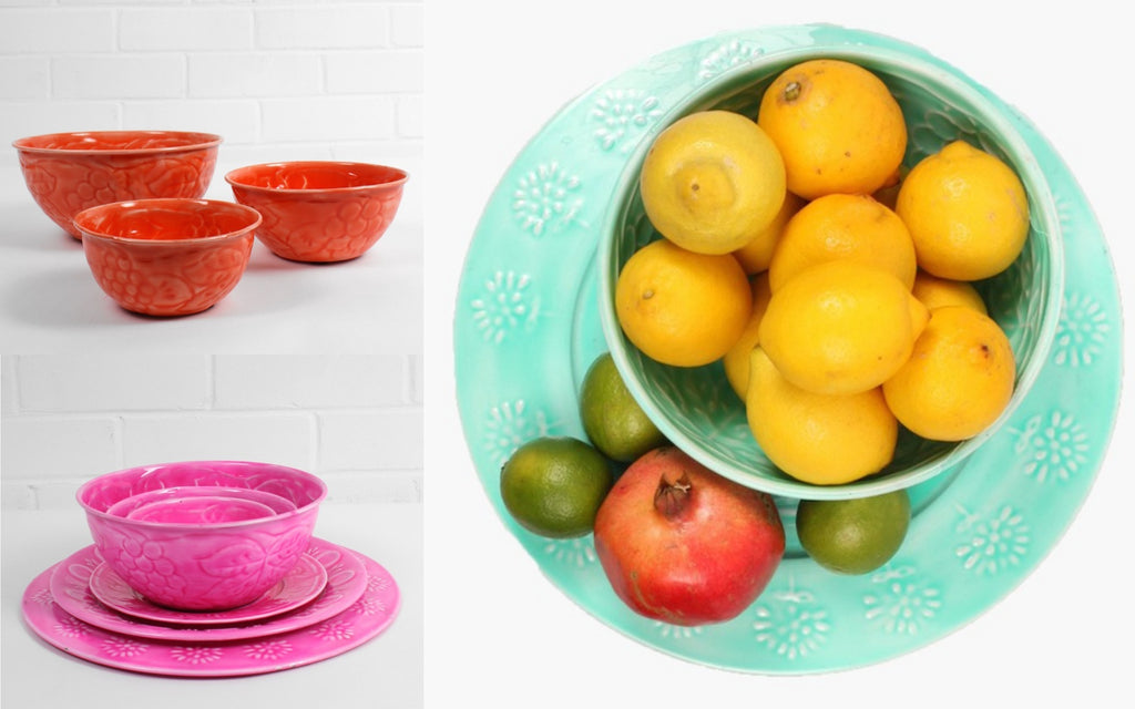 Small Enamel Bowls and Plates - Christmas Gifts