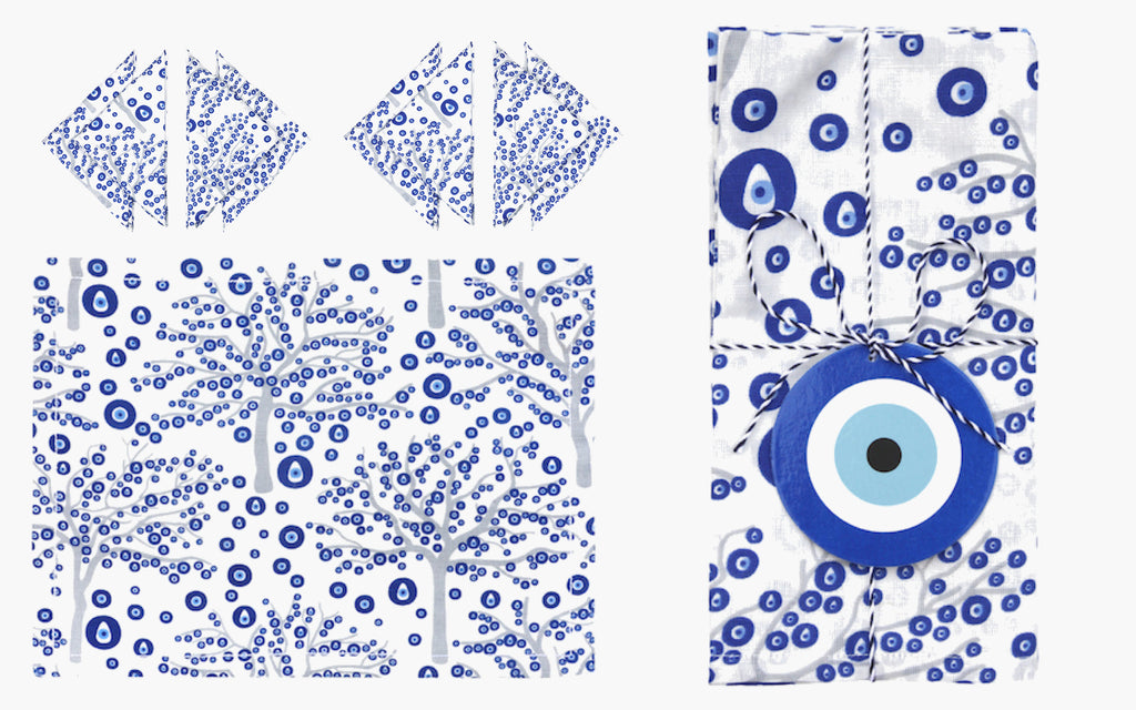 Evil Eye Tree Napkins and Placemats