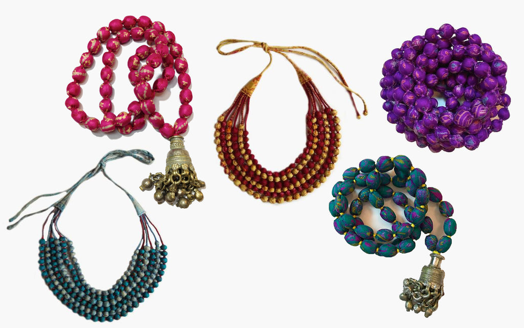 Sari Bead Necklaces - Great Christmas Gift