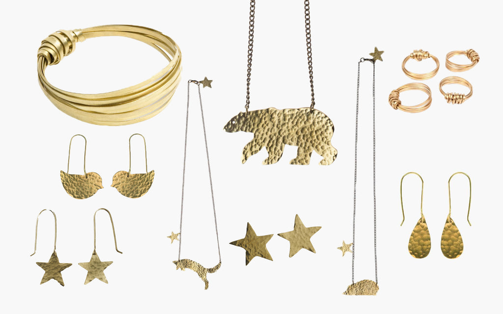 Brass Jewellery - Great Gift for a Girl