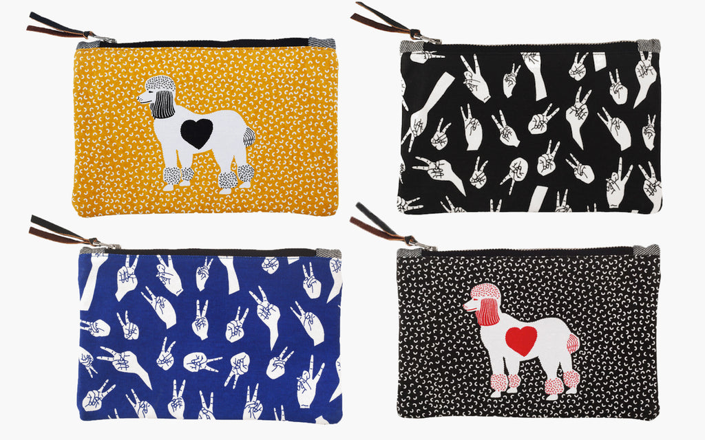 Pouches can be used in handbag as a wallet or pencil case - quicky Secret Santa gift