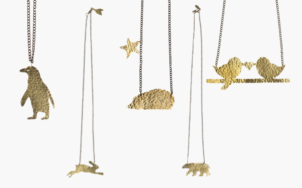 Brass Creature Necklaces for Kids for Christmas
