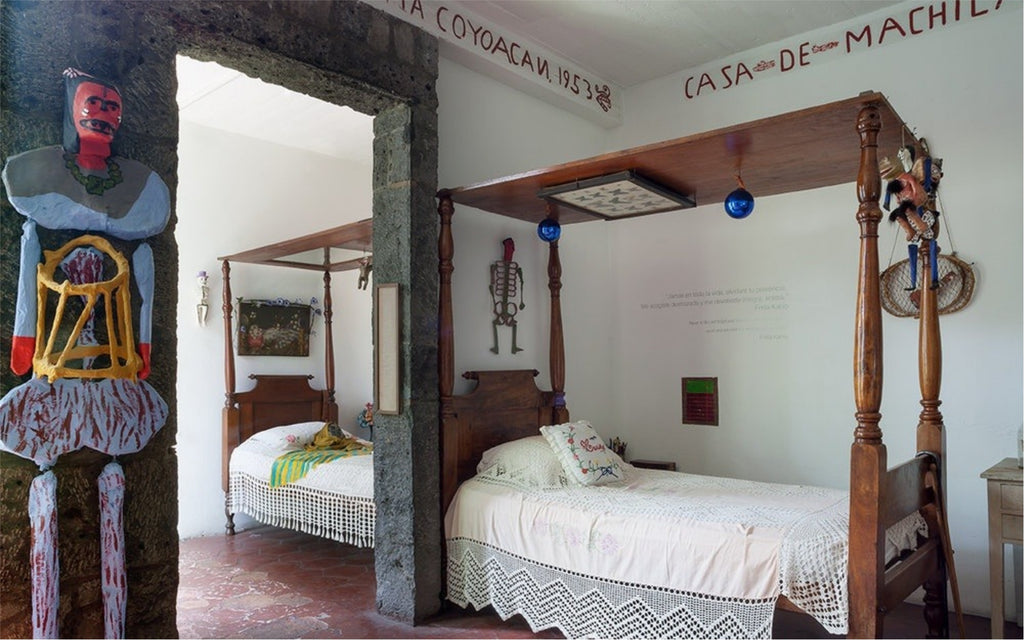 Frida Khalo Bed in Casa Azul