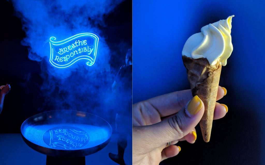 Glow in the Dark Ice Cream at Scoop London
