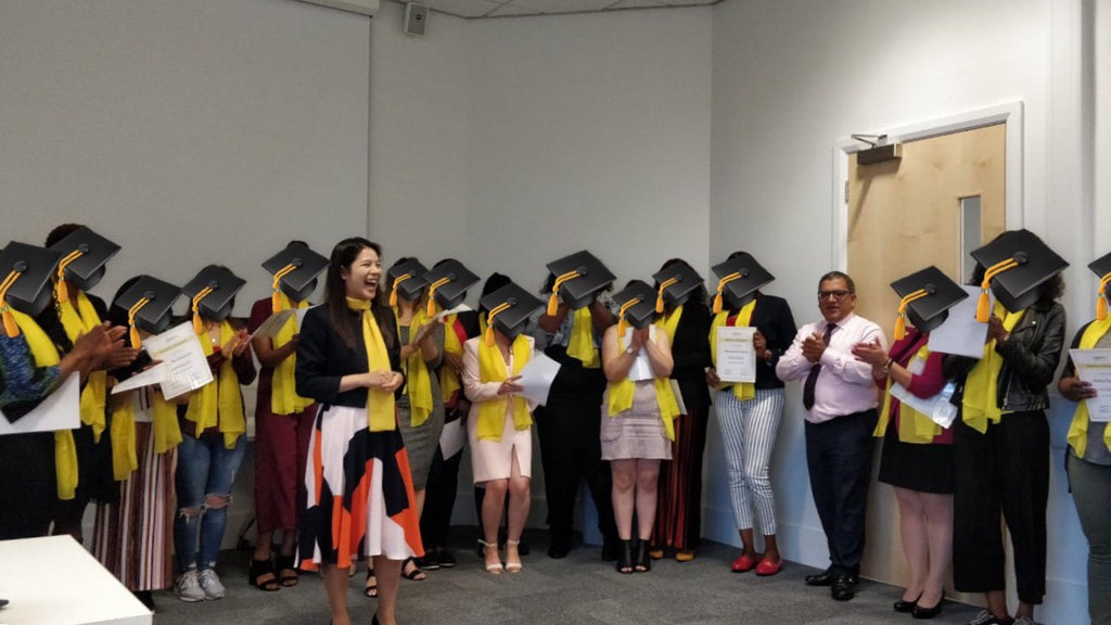 HERA charity small business mentoring graduation