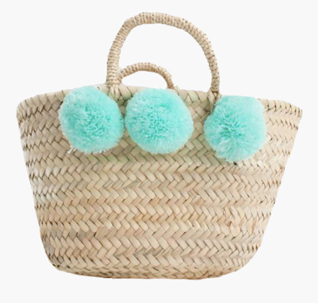 Tropical Trend Mint Woven Basket
