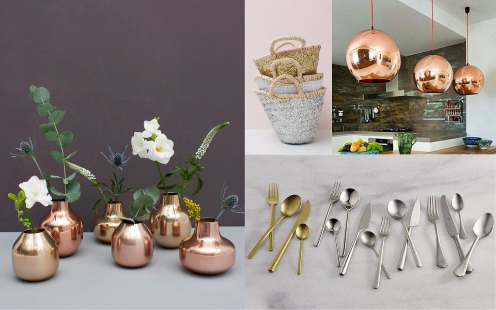 Mixed Metallics - Home Decor Trend for 2018