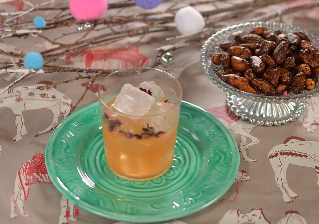 Rosy Cheeks Cocktail and Moroccan Spiced Nuts - Emily Eats Food Blog