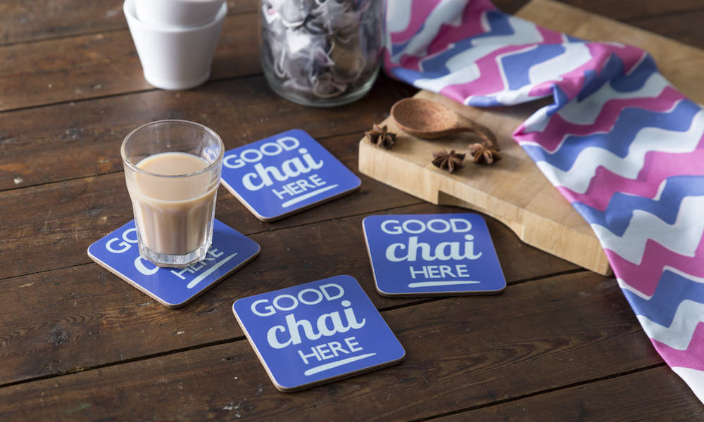 Piccadelhi Good Chai Here Coasters - Chai Recipe