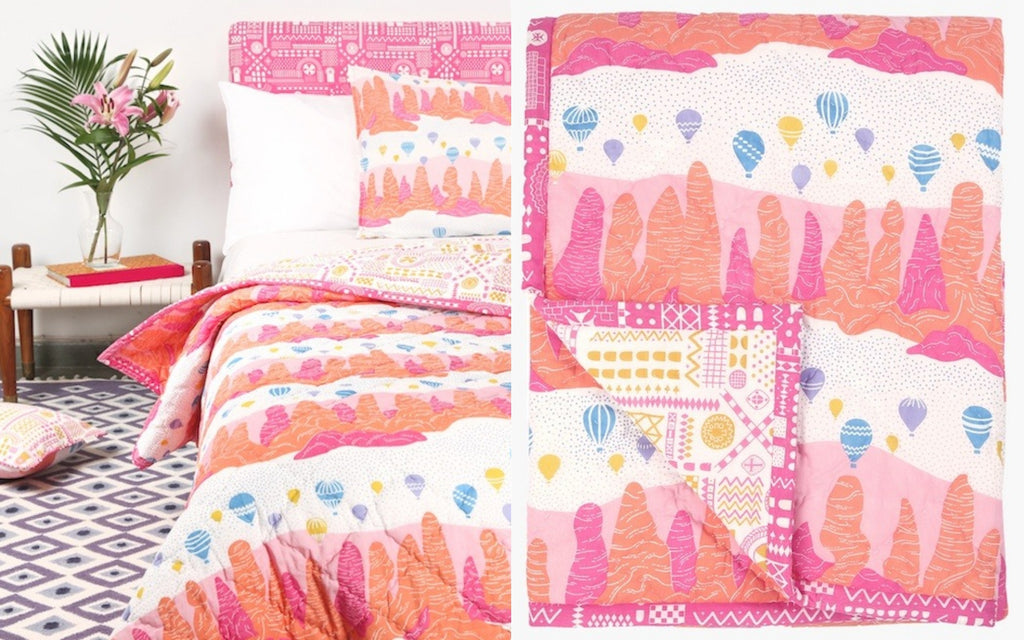 Single Fairy Chimney Quilt - Competition to Win with Estila Magazine