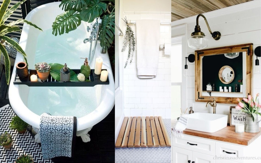 Spa-inspired bathrooms with a holiday hotel feel