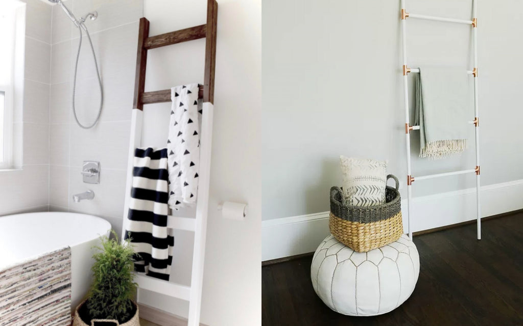 Storing Throws on Ladders and Monochrome Racks