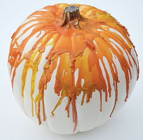 The Swell Designer - Crayon Dripping Pumpkin