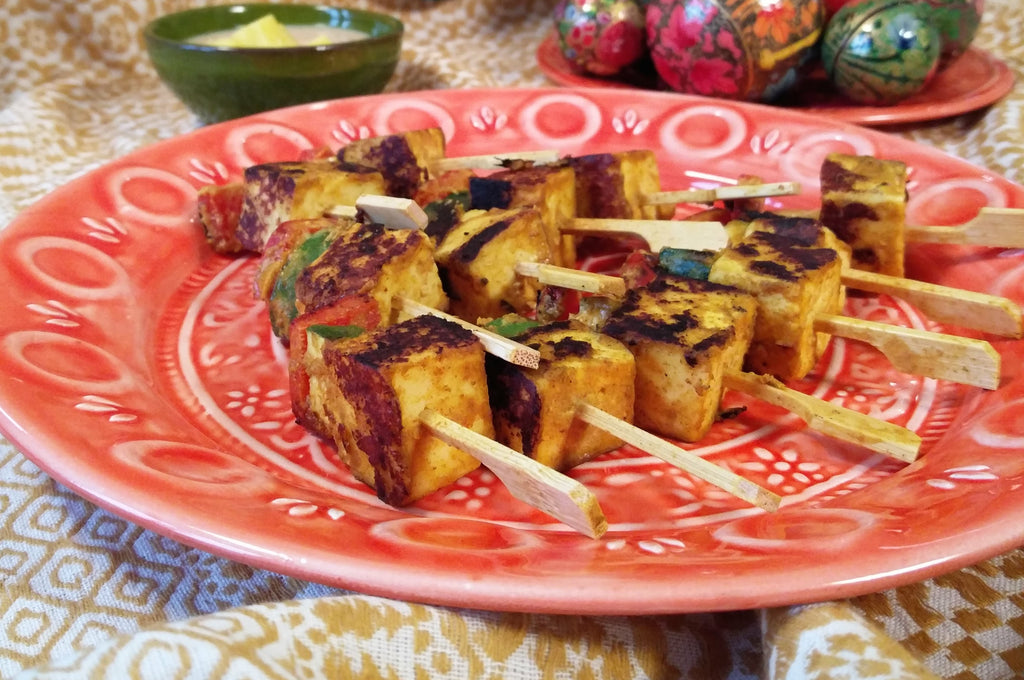 Paneer Skewers from Emily Eats