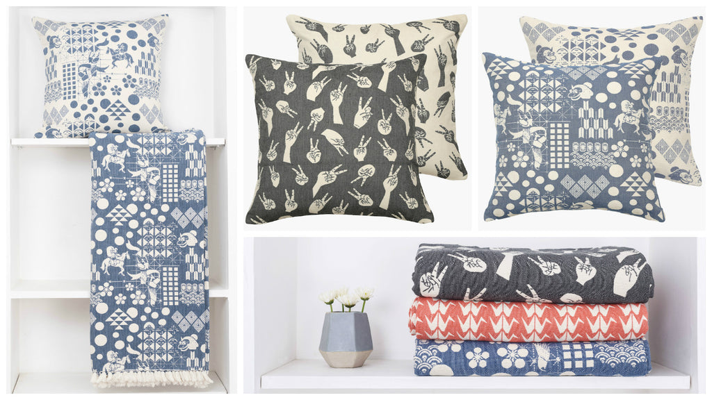 Woven Cushions and Throws - Postcards Home