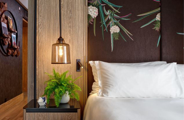 Vegan Hotel Room Interior Design at The Hilton Bankside in London
