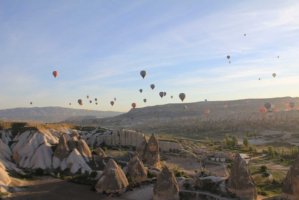 Hot Air Balloons Above Cappadocia - Travel in Turkey