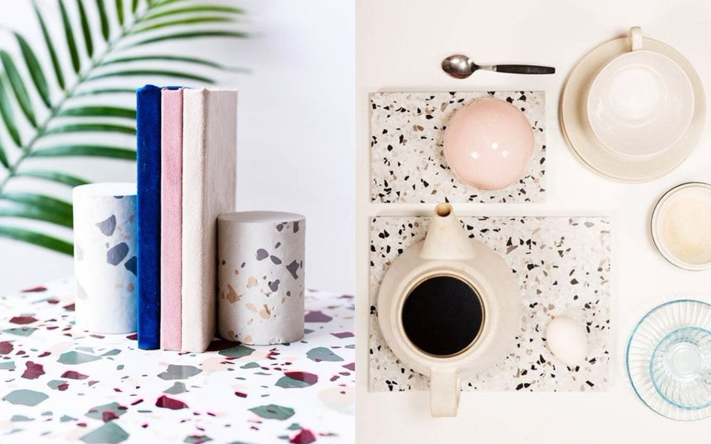 terrazzo trend for home decor 2018