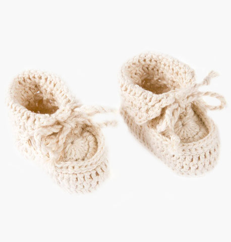 Baby Booties - Handmade in Peru from Organic Fair Trade Cotton