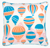 Balloons at Dawn Cushion - Handmade by Safomasi