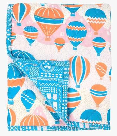 Balloons at Dawn Single Quilt - Handmade by Safomasi