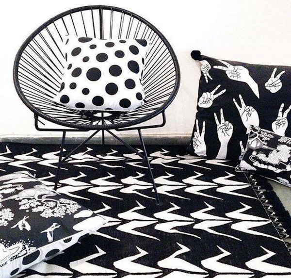 Black And White Rug Ebay Uk: Stunning Monochrome Japanese Origami Design