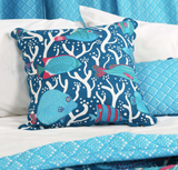 Blue Ocean Reef Cushion Cover - Handmade by Safomasi for Postcards Home