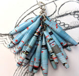 Paper Drop Earrings - Baby Blue - Sustainable Design