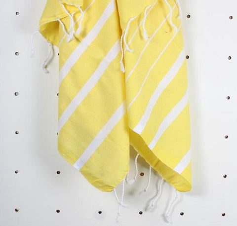 Turkish Hammam Towel - Yellow - Postcards Home - Handmade in Turkey - Travel