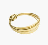 Fair Trade Brass Ribbon Bangle
