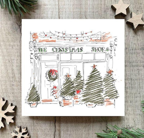 'The Christmas Shop' Christmas Card Set - Postcards Home
