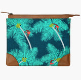 Coconut Palm Pickers iPad Sleeve - Handmade by Safomasi with tropical print