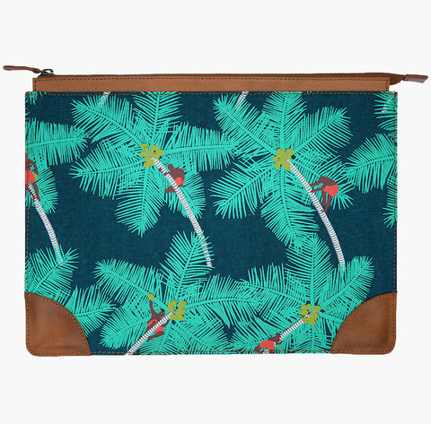 Coconut Palm Pickers Laptop Sleeve - Handmade by Safomasi