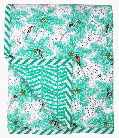 Coconut Palm Pickers Single Quilt - Safomasi - Postcards Home