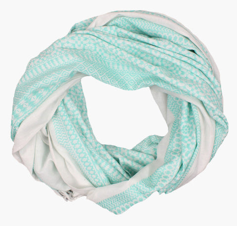 Embroidered Scarf, Mint - Postcards Home