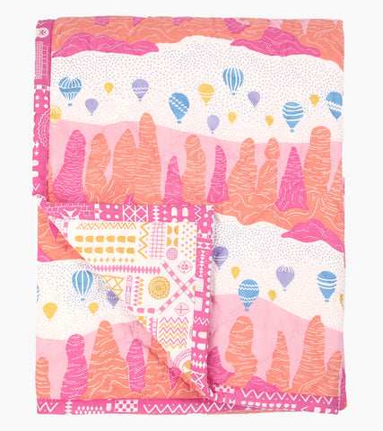 Fairy Chimney Single Quilt - Handmade by Safomasi