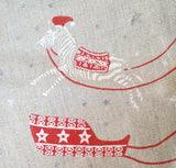 Festive Linen Christmas Stocking from Postcards Home