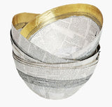 Gold Stitched Paper Bowl